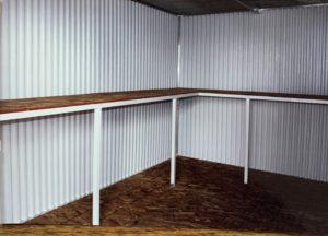 Freestanding Shelf/Work Bench Available